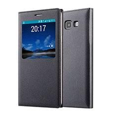 Samsung Galaxy A7 SM-A700用手帳型 レザーケース サムスン ブラック