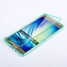 Samsung Galaxy A7 SM-A700用ソフトケース フルカバー クリア透明 サムスン ブルー