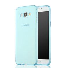 Samsung Galaxy A7 SM-A700用極薄ソフトケース シリコンケース 耐衝撃 全面保護 クリア透明 サムスン ネイビー