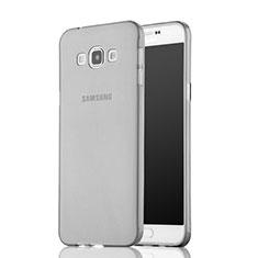 Samsung Galaxy A7 SM-A700用極薄ソフトケース シリコンケース 耐衝撃 全面保護 クリア透明 サムスン グレー