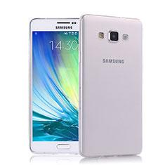 Samsung Galaxy A7 SM-A700用極薄ソフトケース シリコンケース 耐衝撃 全面保護 クリア透明 サムスン クリア