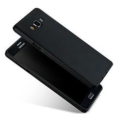 Samsung Galaxy A7 SM-A700用極薄ソフトケース シリコンケース 耐衝撃 全面保護 サムスン ブラック
