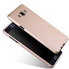 Samsung Galaxy A7 SM-A700用極薄ソフトケース シリコンケース 耐衝撃 全面保護 サムスン ゴールド