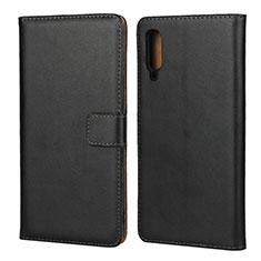 Samsung Galaxy A70用手帳型 レザーケース スタンド サムスン ブラック
