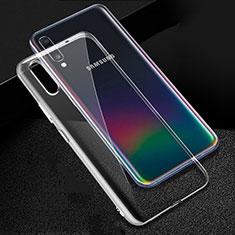 Samsung Galaxy A70用極薄ソフトケース シリコンケース 耐衝撃 全面保護 クリア透明 カバー サムスン クリア