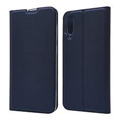 Samsung Galaxy A70用手帳型 レザーケース スタンド カバー サムスン ネイビー