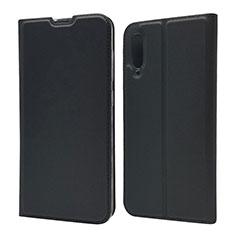 Samsung Galaxy A70用手帳型 レザーケース スタンド カバー サムスン ブラック