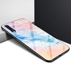 Samsung Galaxy A70用ハイブリットバンパーケース プラスチック パターン 鏡面 カバー サムスン カラフル