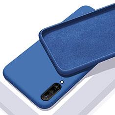 Samsung Galaxy A70用360度 フルカバー極薄ソフトケース シリコンケース 耐衝撃 全面保護 バンパー サムスン ネイビー