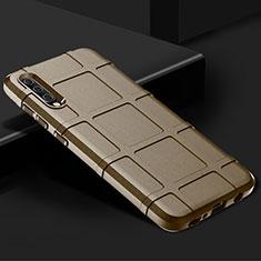 Samsung Galaxy A70用360度 フルカバー極薄ソフトケース シリコンケース 耐衝撃 全面保護 バンパー S01 サムスン ゴールド
