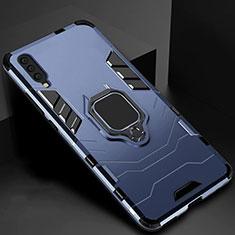 Samsung Galaxy A70用ハイブリットバンパーケース スタンド プラスチック 兼シリコーン カバー マグネット式 サムスン ネイビー