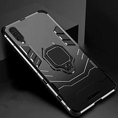 Samsung Galaxy A70用ハイブリットバンパーケース スタンド プラスチック 兼シリコーン カバー マグネット式 サムスン ブラック