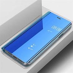 Samsung Galaxy A70用手帳型 レザーケース スタンド 鏡面 カバー サムスン ネイビー