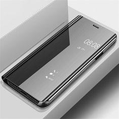 Samsung Galaxy A70用手帳型 レザーケース スタンド 鏡面 カバー サムスン ブラック