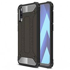 Samsung Galaxy A70用360度 フルカバー極薄ソフトケース シリコンケース 耐衝撃 全面保護 バンパー S02 サムスン ブラック