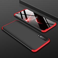 Samsung Galaxy A70用ハードケース プラスチック 質感もマット 前面と背面 360度 フルカバー サムスン レッド・ブラック