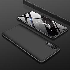 Samsung Galaxy A70用ハードケース プラスチック 質感もマット 前面と背面 360度 フルカバー サムスン ブラック