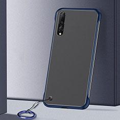 Samsung Galaxy A70用ハードカバー クリスタル クリア透明 S01 サムスン ネイビー