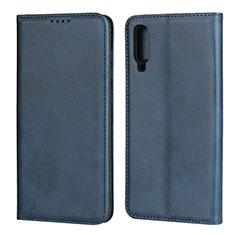 Samsung Galaxy A70S用手帳型 レザーケース スタンド カバー L01 サムスン ネイビー