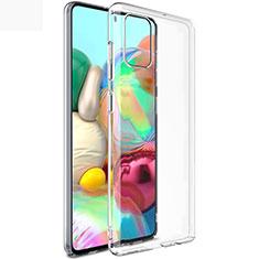Samsung Galaxy A71 5G用極薄ソフトケース シリコンケース 耐衝撃 全面保護 クリア透明 T02 サムスン クリア