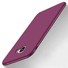 Samsung Galaxy A8 (2016) A8100 A810F用極薄ソフトケース シリコンケース 耐衝撃 全面保護 S01 サムスン パープル