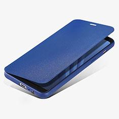 Samsung Galaxy A8 (2018) A530F用手帳型 レザーケース スタンド L02 サムスン ネイビー