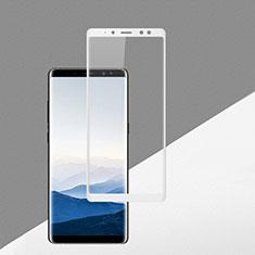 Samsung Galaxy A8 (2018) A530F用強化ガラス フル液晶保護フィルム F02 サムスン ホワイト