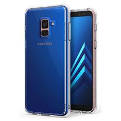 Samsung Galaxy A8+ A8 Plus (2018) A730F用極薄ソフトケース シリコンケース 耐衝撃 全面保護 クリア透明 カバー サムスン クリア