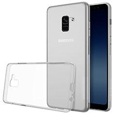 Samsung Galaxy A8+ A8 Plus (2018) A730F用極薄ソフトケース シリコンケース 耐衝撃 全面保護 クリア透明 T02 サムスン クリア