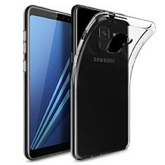 Samsung Galaxy A8+ A8 Plus (2018) Duos A730F用極薄ソフトケース シリコンケース 耐衝撃 全面保護 クリア透明 T04 サムスン クリア