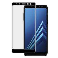 Samsung Galaxy A8+ A8 Plus (2018) Duos A730F用強化ガラス フル液晶保護フィルム サムスン ブラック