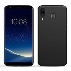 Samsung Galaxy A8 Star用シリコンケース ソフトタッチラバー カバー サムスン ブラック