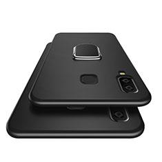 Samsung Galaxy A8 Star用極薄ソフトケース シリコンケース 耐衝撃 全面保護 アンド指輪 マグネット式 サムスン ブラック