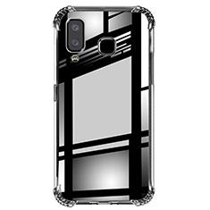 Samsung Galaxy A8 Star用極薄ソフトケース シリコンケース 耐衝撃 全面保護 クリア透明 T02 サムスン クリア