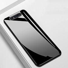 Samsung Galaxy A80用ハイブリットバンパーケース プラスチック 鏡面 カバー T02 サムスン ブラック