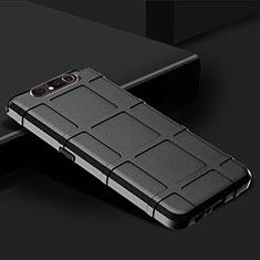Samsung Galaxy A80用360度 フルカバー極薄ソフトケース シリコンケース 耐衝撃 全面保護 バンパー C03 サムスン ブラック
