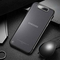 Samsung Galaxy A80用ハードカバー クリスタル クリア透明 S02 サムスン ブラック