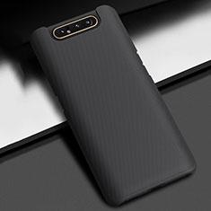 Samsung Galaxy A80用ハードケース プラスチック 質感もマット カバー P02 サムスン ブラック