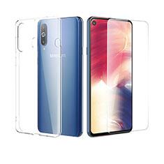 Samsung Galaxy A8s SM-G8870用極薄ソフトケース シリコンケース 耐衝撃 全面保護 クリア透明 アンド液晶保護フィルム サムスン クリア