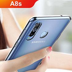 Samsung Galaxy A8s SM-G8870用極薄ソフトケース シリコンケース 耐衝撃 全面保護 クリア透明 T05 サムスン クリア