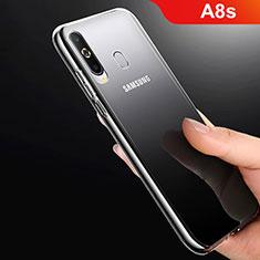 Samsung Galaxy A8s SM-G8870用極薄ソフトケース シリコンケース 耐衝撃 全面保護 クリア透明 T06 サムスン クリア