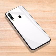 Samsung Galaxy A8s SM-G8870用ハイブリットバンパーケース プラスチック 鏡面 カバー サムスン ホワイト