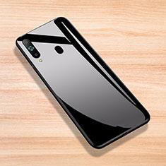 Samsung Galaxy A8s SM-G8870用ハイブリットバンパーケース プラスチック 鏡面 カバー サムスン ブラック