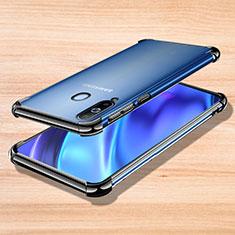 Samsung Galaxy A8s SM-G8870用極薄ソフトケース シリコンケース 耐衝撃 全面保護 クリア透明 H01 サムスン ブラック