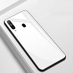 Samsung Galaxy A8s SM-G8870用ハイブリットバンパーケース プラスチック 鏡面 カバー M01 サムスン ホワイト