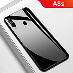 Samsung Galaxy A8s SM-G8870用ハイブリットバンパーケース プラスチック 鏡面 カバー M01 サムスン ブラック