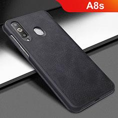 Samsung Galaxy A8s SM-G8870用手帳型 レザーケース スタンド カバー サムスン ブラック