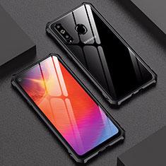 Samsung Galaxy A8s SM-G8870用ケース 高級感 手触り良い アルミメタル 製の金属製 バンパー 鏡面 カバー サムスン ブラック