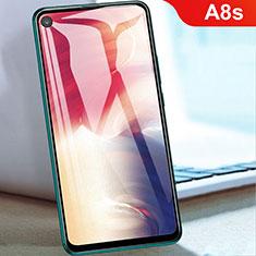 Samsung Galaxy A8s SM-G8870用強化ガラス フル液晶保護フィルム サムスン ブラック