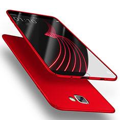 Samsung Galaxy A9 (2016) A9000用ハードケース プラスチック 質感もマット M03 サムスン レッド